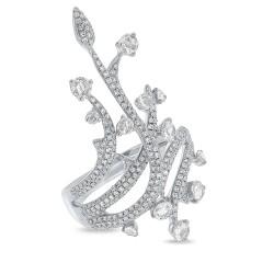 Madison E 1.18ct 14k White Gold Diamond Rose Cut Ring