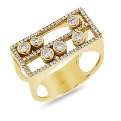 Madison E 0.48ct 14k Yellow Gold Diamond Slider Lady
