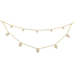 Madison E 0.47ct 14k Yellow Gold Diamond Pave Necklace