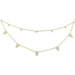Madison E 0.50ct 14k Yellow Gold Diamond Pave Necklace