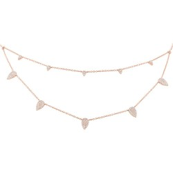 Madison E 0.50ct 14k Rose Gold Diamond Pave Necklace