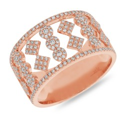 Madison E 0.51ct 14k Rose Gold Diamond Lady