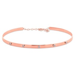 Madison E 0.39ct 14k Rose Gold Diamond Choker Necklace