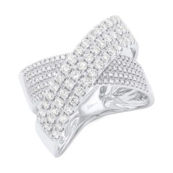 Madison E 1.16ct 14k White Gold Diamond Bridge Ring