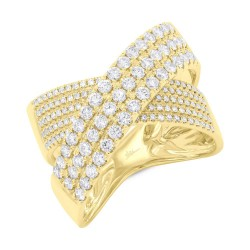 Madison E 1.16ct 14k Yellow Gold Diamond Bridge Ring