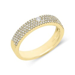 Madison E 0.33ct 14k Yellow Gold Diamond Pave Lady