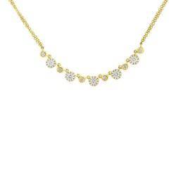 Madison E 0.56ct 14k Yellow Gold Diamond Necklace