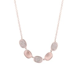 Madison E 0.17ct 14k Rose Gold Diamond Pave Necklace