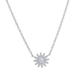 Madison E 0.15ct 14k White Gold Diamond Necklace
