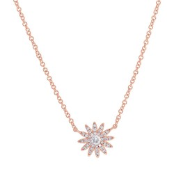 Madison E 0.15ct 14k Rose Gold Diamond Necklace