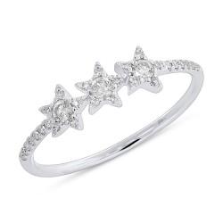 Madison E 0.20ct 14k White Gold Diamond Star Ring