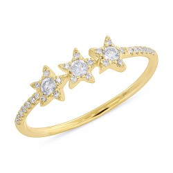 Madison E 0.20ct 14k Yellow Gold Diamond Star Ring