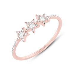 Madison E 0.20ct 14k Rose Gold Diamond Star Ring