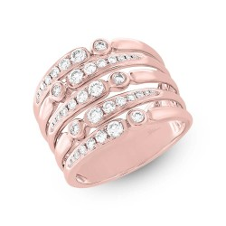 Madison E 0.75ct 14k Rose Gold Diamond Lady