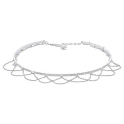 Madison E 0.77ct 14k White Gold Diamond Choker Necklace