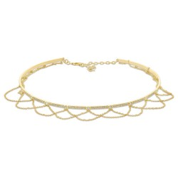 Madison E 0.77ct 14k Yellow Gold Diamond Choker Necklace