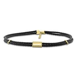 Madison E 0.12ct 14k Yellow Gold Diamond Cord Choker Necklace
