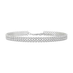 Madison E 4.65ct 14k White Gold Diamond Choker Necklace