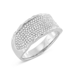 Madison E 0.45ct 14k White Gold Diamond Pave Lady
