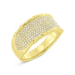 Madison E 0.45ct 14k Yellow Gold Diamond Pave Lady