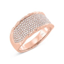 Madison E 0.45ct 14k Rose Gold Diamond Pave Lady