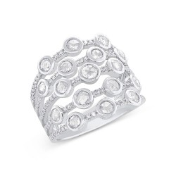 Madison E 1.10ct 14k White Gold Diamond Rose Cut Ring
