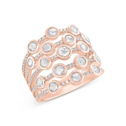 Madison E 1.10ct 14k Rose Gold Diamond Rose Cut Ring