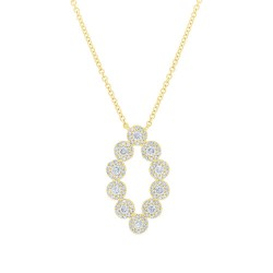 Madison E 0.61ct 14k Yellow Gold Diamond Pendant