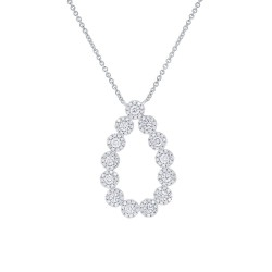 Madison E 0.80ct 14k White Gold Diamond Pendant