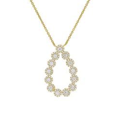 Madison E 0.80ct 14k Yellow Gold Diamond Pendant