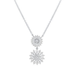 Madison E 0.51ct 14k White Gold Diamond Necklace