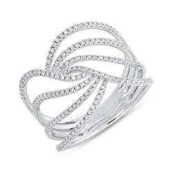 Madison E 0.37ct 14k White Gold Diamond Lady