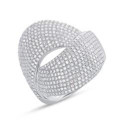 Madison E 1.28ct 14k White Gold Diamond Pave Lady