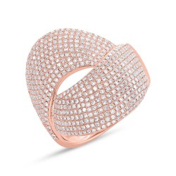 Madison E 1.28ct 14k Rose Gold Diamond Pave Lady