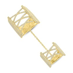 Madison E 1.75ct 14k Yellow Gold Diamond Pave Lady