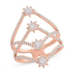 Madison E 0.58ct 14k Rose Gold Diamond Star Ring