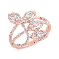 Madison E 0.61ct 14k Rose Gold Diamond Leaf Lady