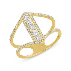 Madison E 0.53ct 14k Yellow Gold Diamond Lady