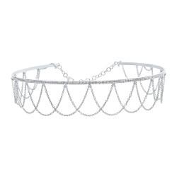 Madison E 0.74ct 14k White Gold Diamond Choker Necklace