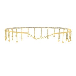 Madison E 0.80ct 14k Yellow Gold Diamond Choker Necklace