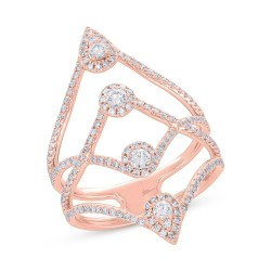 Madison E 0.71ct 14k Rose Gold Diamond Lady