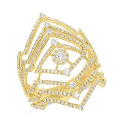 Madison E 0.90ct 14k Yellow Gold Diamond Lady