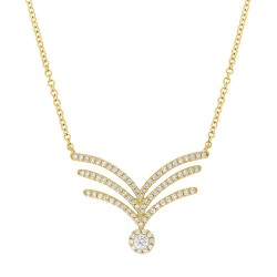 Madison E 0.32ct 14k Yellow Gold Diamond Pendant