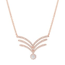 Madison E 0.32ct 14k Rose Gold Diamond Pendant