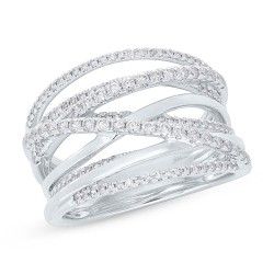 Madison E 0.62ct 14k White Gold Diamond Bridge Ring