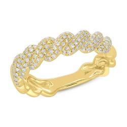 Madison E 0.38ct 14k Yellow Gold Diamond Pave Lady