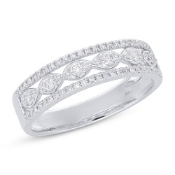 Madison E 0.31ct 14k White Gold Diamond Lady