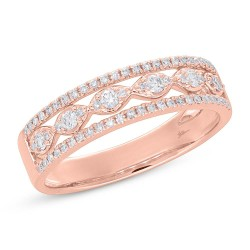 Madison E 0.31ct 14k Rose Gold Diamond Lady