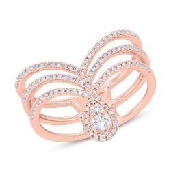 Madison E 0.37ct 14k Rose Gold Diamond Lady