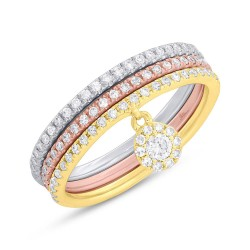 Madison E 0.26ct 14k Three-tone Gold Diamond Lady